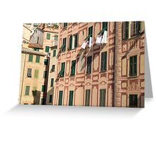 The lines and shadows of the Italian Riviera Greeting Card