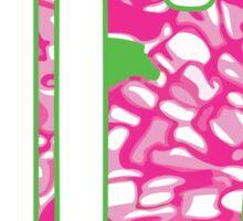 ΑΓΔ Pink Monogram Sticker