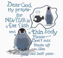 Baby penguin's funny New Year's resolution by cheeckymonkey