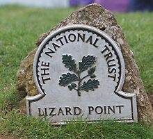Lizard Point National Trust sign Cornwall  by Keith Larby