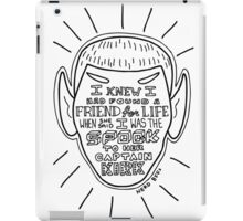 BFFs Spock and Kirk iPad Case/Skin