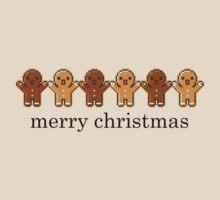 Pixel Gingerbread Men by everlander