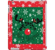 Merry Christmas reindeer iPad Case/Skin