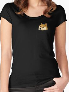 Pocket Doge Women's Fitted Scoop T-Shirt