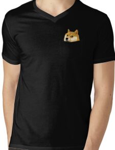 Pocket Doge Mens V-Neck T-Shirt