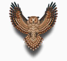 Beadwork Great Horned Owl by NaumaddicArts