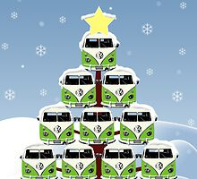 VW Camper Cool Yule Christmas by splashgti