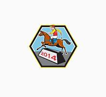 Year of Horse 2014 Jockey Jumping Cartoon Unisex T-Shirt