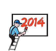New Year 2014 Painter Painting Billboard by patrimonio