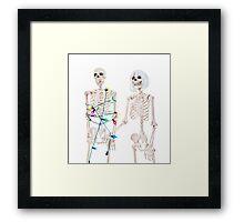 Captive Christmas Skeleton Framed Print