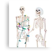 Captive Christmas Skeleton Canvas Print