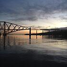 Forth Rail Bridge. November dawn.  by LBMcNicoll