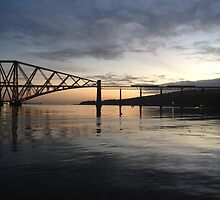 Forth Rail Bridge. November dawn.  by LBMcNicoll