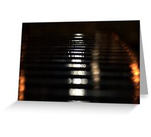 Black Iron Abstract Greeting Card