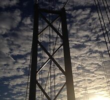 Forth Road Bridge, December Sun by LBMcNicoll
