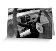 Inside Vintage Truck Abstract Greeting Card