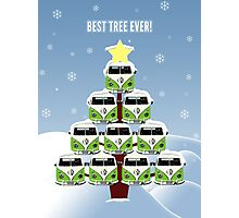 VW Camper Best Tree Ever Photographic Print