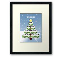 VW Camper Christmas Treemendous Framed Print