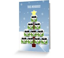 VW Camper Christmas Treemendous Greeting Card
