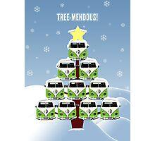 VW Camper Christmas Treemendous Photographic Print