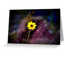 Abstract Black Eyed Susan Greeting Card