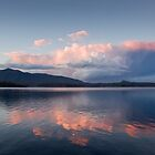 Storm at Sunset Wallaga Lake by pcbermagui