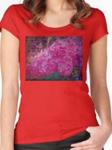 Vintage Lilacs floral garden nature art Women's Fitted Scoop T-Shirt