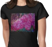 Vintage Lilacs floral garden nature art Womens Fitted T-Shirt