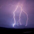 Kalbar Lightning Over Mountains by Anthony Cornelius