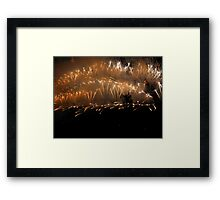 Sydney New Year's Eve Framed Print