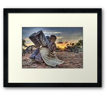 Barrel Sunset Framed Print