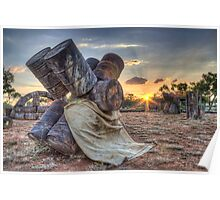 Barrel Sunset Poster