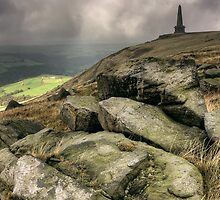Stoodley Pike From The Pennine Way by fotohebden