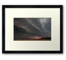 Cecil Plains Gustfront & Lightning Framed Print