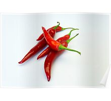 Red hot spicy peppers Poster