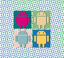 Android Pop Art (Phone Cases) 2 by DarKJuubi