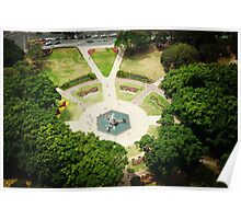 Hyde Park Gardens from the top. Poster