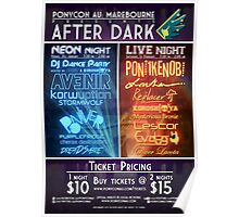 PonyCon AU After Dark 2014 Poster Poster