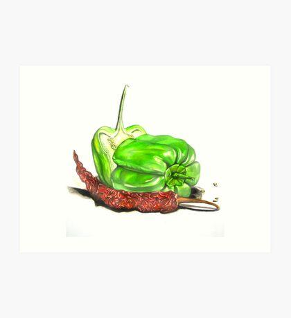 Capsicum & Chillies Art Print