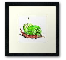 Capsicum & Chillies Framed Print