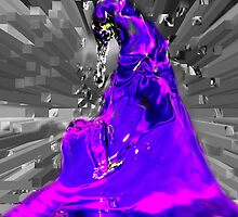 dark side in purple by Wieslaw Jan Syposz