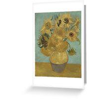 Vincent Van Gogh  - Sunflowers , Impressionism , Fine Art Greeting Card