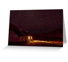 Stargazing at Black Rock Cottage, Glencoe, Scotland Greeting Card