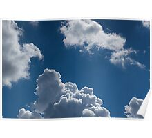 Beautifull Puffy Clouds Poster