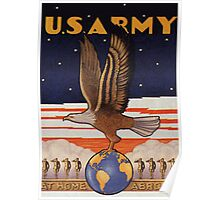 US Army Pre WW2 Poster Poster