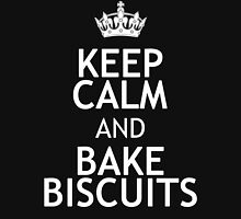 KEEP CALM AND BAKE BISCUITS Womens Fitted T-Shirt