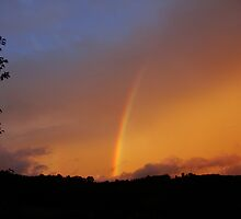 Sunset with Rainbow 2 by Brevis