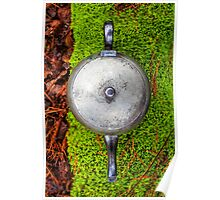 Silver teapot in the forest Poster