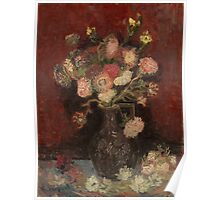 Vincent Van Gogh  - Vase with Chinese asters and gladioli, 1886 Poster