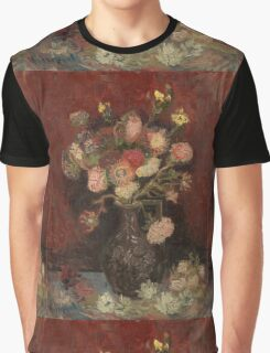 Vincent Van Gogh  - Vase with Chinese asters and gladioli, 1886 Graphic T-Shirt